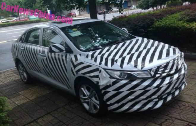 Spy Shots: Geely Emgrand compact premium sedan testing in China
