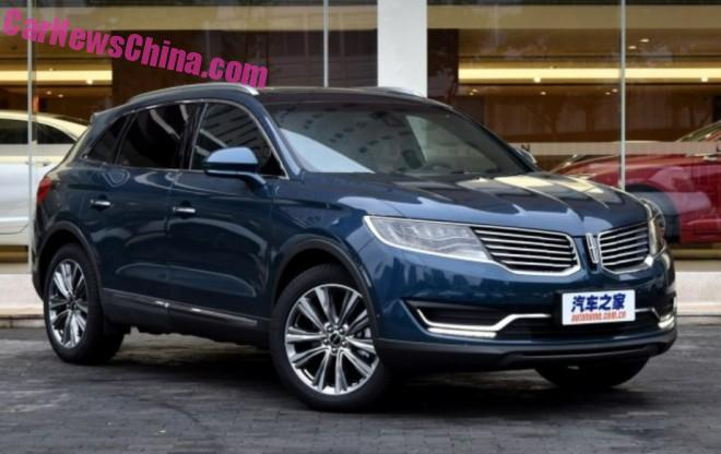 Lincoln MKX launched on the Chinese car market