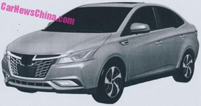 Patent Applied: this is the new Luxgen 3 compact sedan for China
