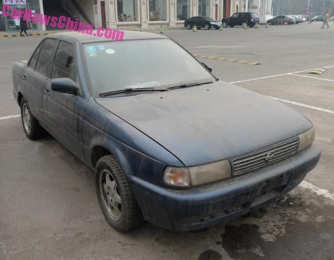 Spotted in China: B13 Nissan Sentra sedan