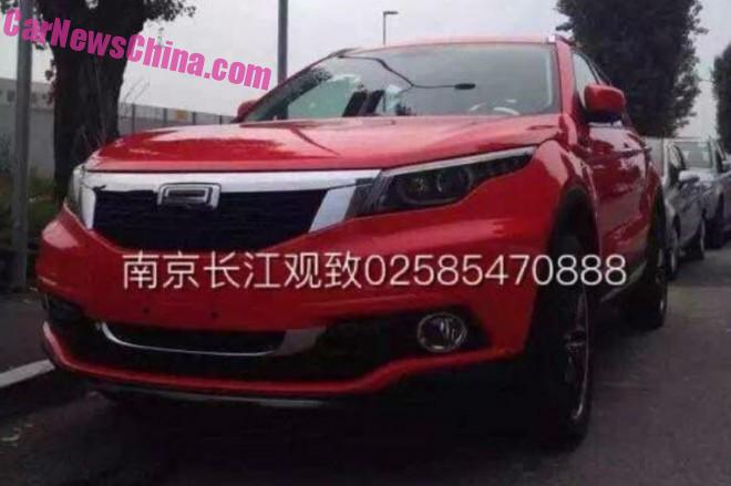 Spy Shots: Qoros XQ3 SUV is Naked in Red in China