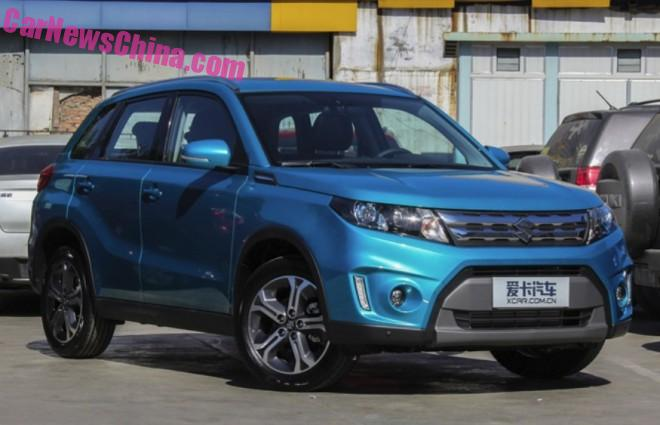 China-made Suzuki Vitara to hit the Chinese car market in November