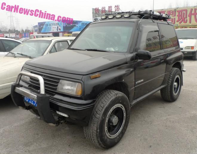 Spotted in China: Suzuki Vitara JXL in Black
