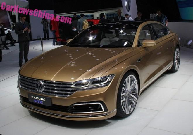 Volkswagen C Coupe GTE will launch in China in 2017