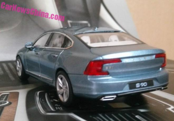 Best Look So Far at the Volvo S90 scale model from China