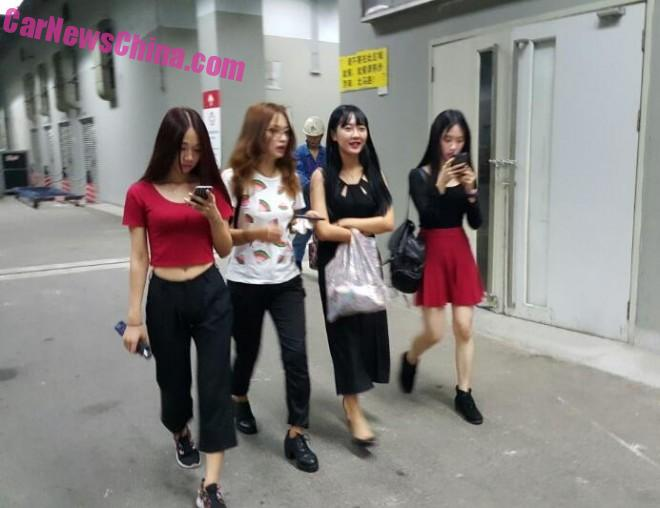 The Girls arrive at the Guangzhou Auto Show in China