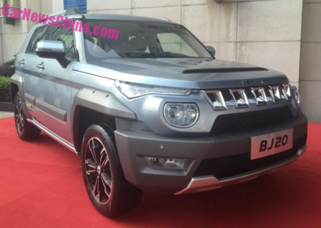 Beijing Auto BJ20 will hit the Chinese car market in August 2016