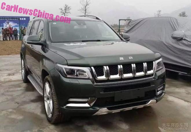 Spy Shots: Beijing Auto BJ90 looks Massive in Green