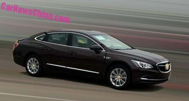 Spy Shots 2016 Buick Lacrosse Is In China