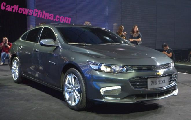 Chevrolet Malibu XL debuts on the Guangzhou Auto Show in China