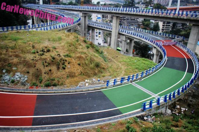 China gives Color to the Road in Chongqing City