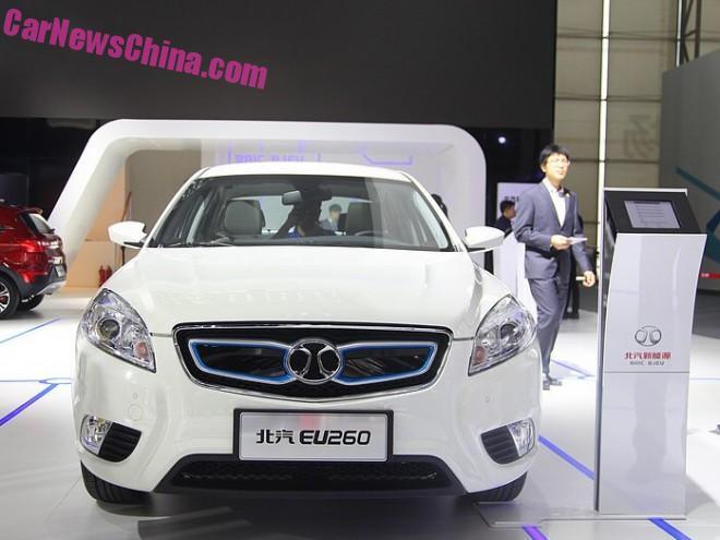 Beijing Auto Senova EU260 EV debuts on the Guangzhou Auto Show in China