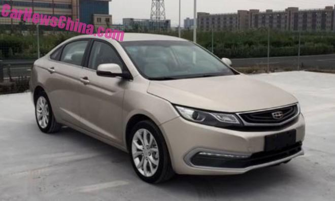 Spy Shots: Geely Emgrand compact sedan is Naked in China