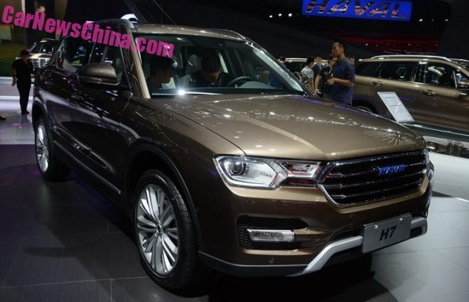 Haval H7 debuts on the Guangzhou Auto Show in China