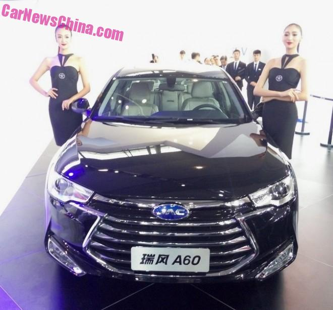 JAC A60 gets a new Grille on the Guangzhou Auto Show in China