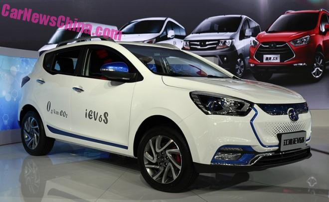 JAC iEV6S debuts on the Guangzhou Auto Show