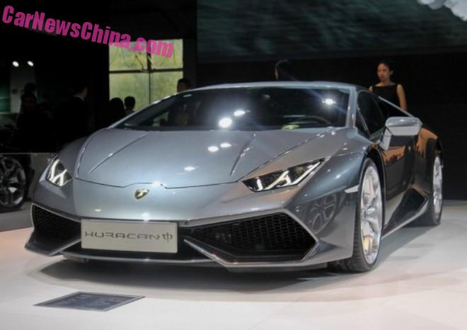 Lamborghini Huracan Zhong launches at the Guangzhou Auto Show in China
