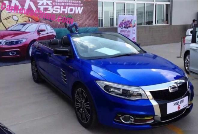 Meet the one-off 'Qoros 6' four-door convertible from China