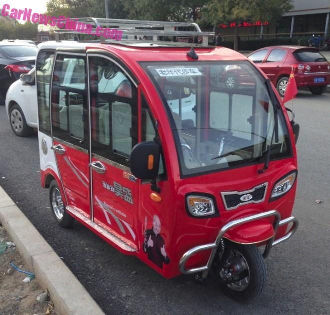 Eye to Eye with the Shenghao Q5 electric tricycle in China