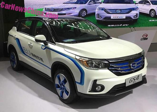 Guangzhou Auto Trumpchi GS4 EV debuts on the Guangzhou Auto Show in China