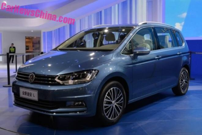 Volkswagen Touran L unveiled on the Guangzhou Auto Show
