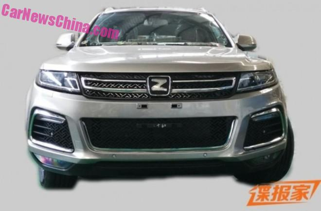 Spy Shots: Zotye T600S testing in China