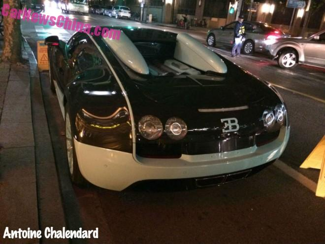 Spotted in China: Bugatti Veyron Gran Sport Vitesse in black & mint green