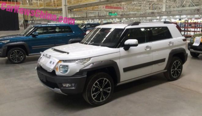 Spy Shots: Beijing Auto BJ20 SUV is Almost Ready for the Chinese car market