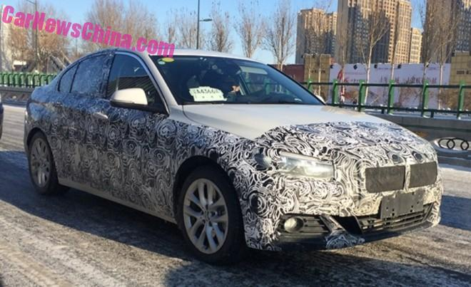 Spy Shots: BMW 1-Series sedan seen Testing in China