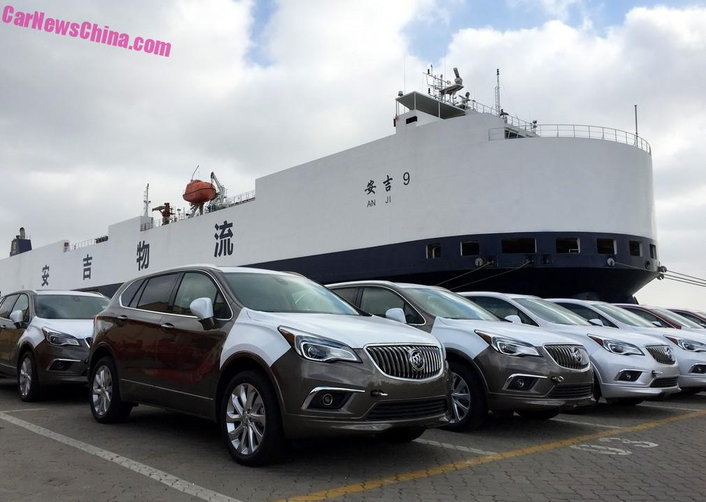 the china made buick envision suv is officially on its way to america. Black Bedroom Furniture Sets. Home Design Ideas