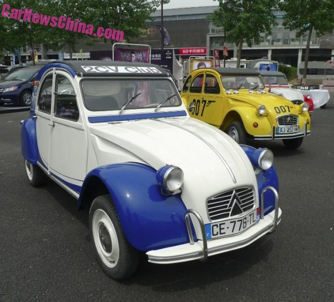 Meeting the Cars of the Beijing Citroen 2CV Club in China
