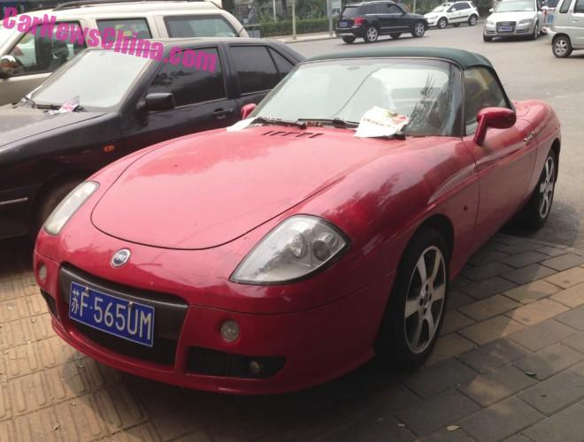 Spotted in China: Fiat Barchetta in Red