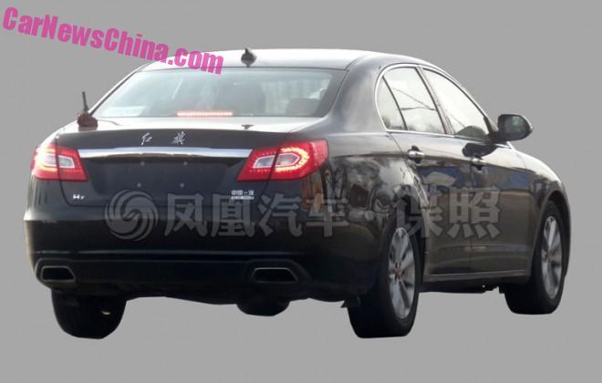 Spy Shots: Hongqi H7 'Blue Way' plug-in hybrid testing in China