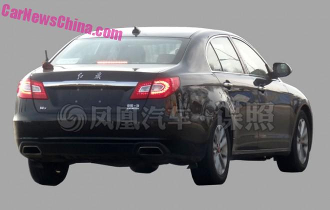 Spy Shots: Hongqi H7 'Blue Way' plug-in hybrid testing in China
