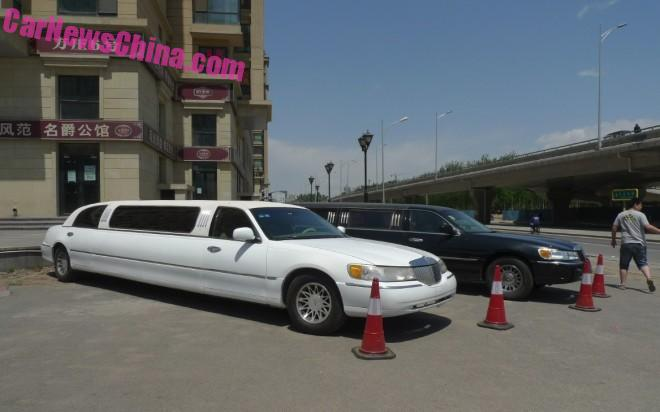 Spotted in China: Lincoln Town Car stretched limousine Times Three
