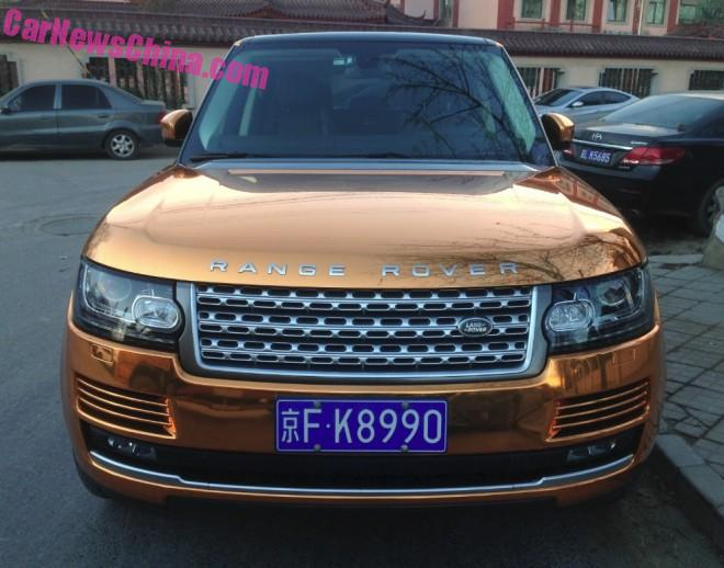 Range Rover is Shiny Gold in China