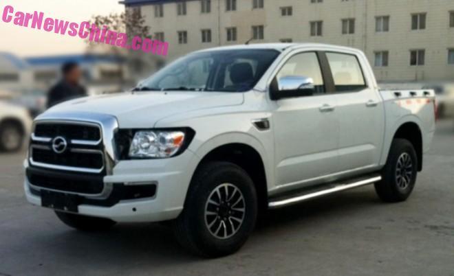 Spy Shots: new Pickup Truck for Zhongxing Auto of China