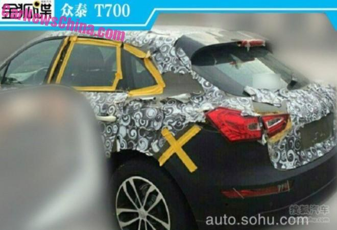 Spy Shots: Zotye T700 'Porsche Macan' shows a bit more Ass in China