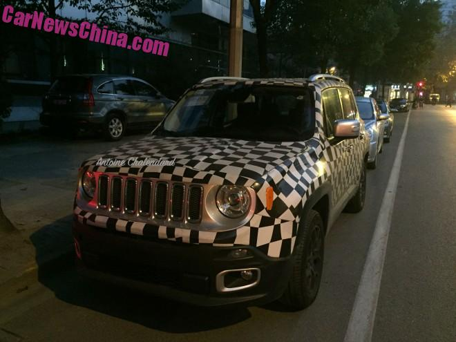Spy Shots: Spy Shots: China-made Jeep Renegade seen testing in China