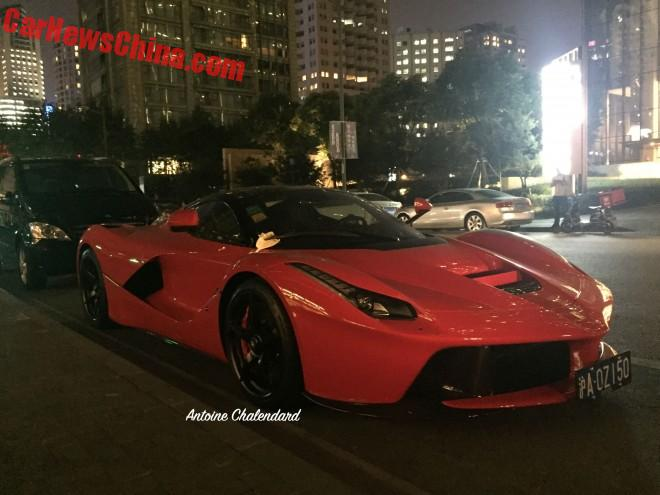 Ferrari LaFerrrari is a Red Supercar in China