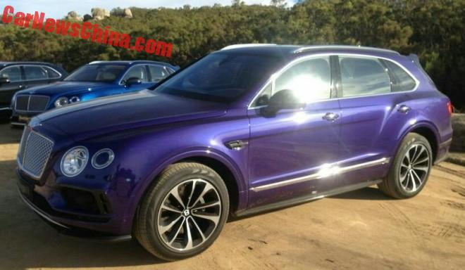 The Bentley Bentayga is a Beast in Purple