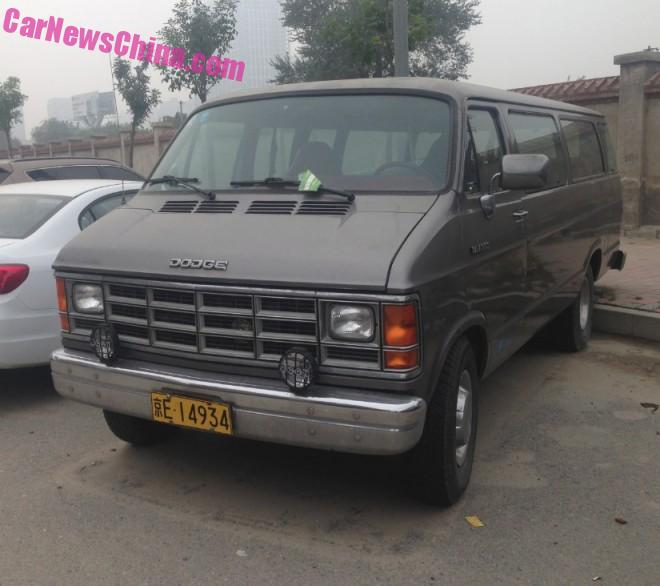 Spotted in China: second generation Dodge Ram 350 Van