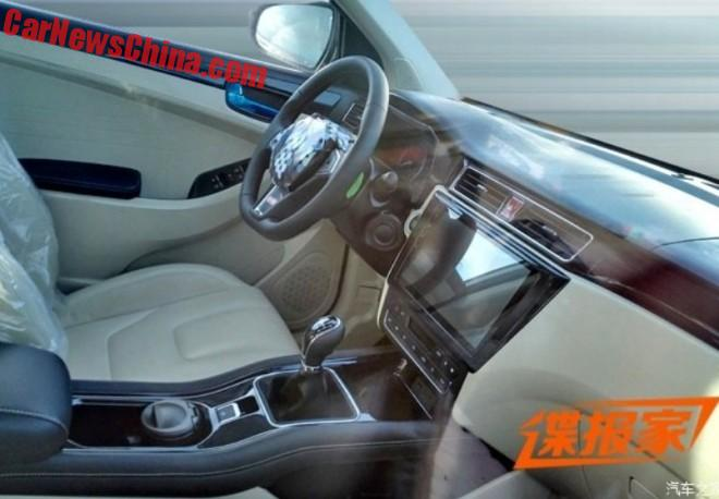 Spy Shots: Dongfeng SUV gets a super wide touch screen in China
