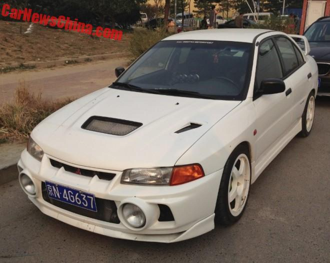 Spotted in China: a perfect Mitsubishi EVO IV