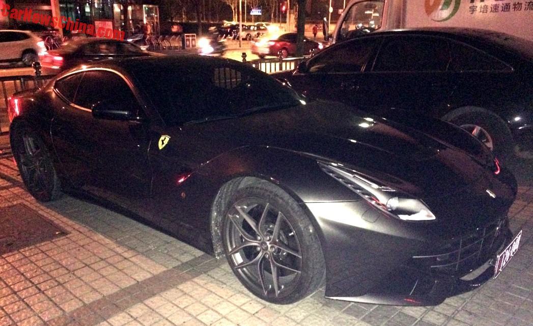 spotted in china ferrari f12berlinetta in matte black