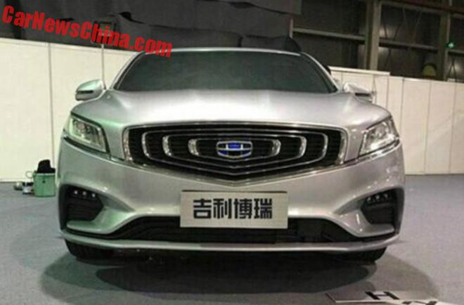 Spy Shots: facelift for the Geely Borui in China