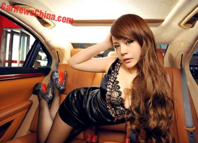 Sweet Chinese Girl in a Mercedes-Benz S350 sedan
