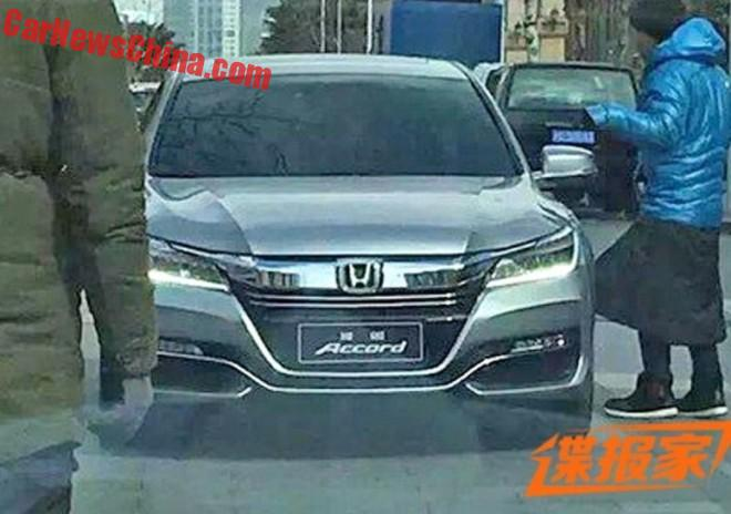 Spy Shots: facelift for the China-made Honda Accord