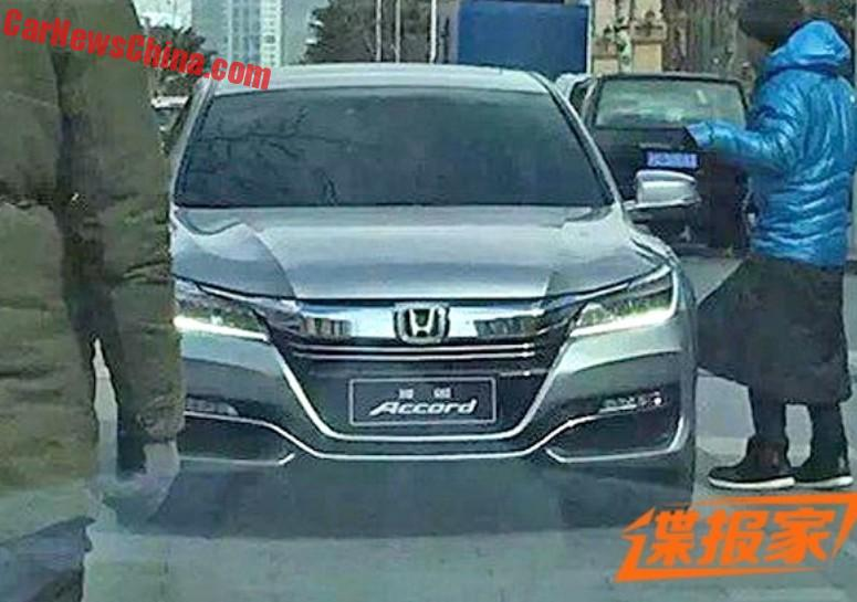 Spy Shots: Facelift For The China Made Honda Accord