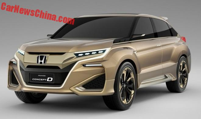 Honda Concept D to hit the Chinese car market this year